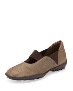 Adrian Casual Leather Flat, Bronze, Size: 39.5B/9.5B - Sesto Meucci