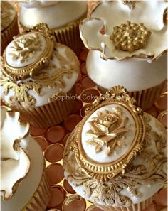 ** Rococo Cupcakes, by Sophia's Cake Boutique - CakesDecor.  Now that's what I call a fancy cake