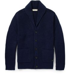 Burberry London - Cashmere and Wool-Blend Shawl-Collar Cardigan MR PORTER