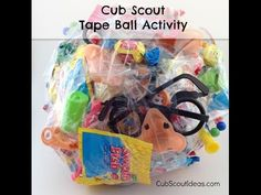 How to Make a Tape Ball for Cub Scout Activities | Cub Scout Ideas