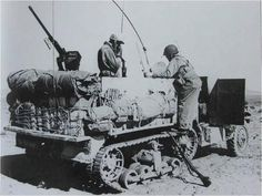 M2 halftrack of 1st ArmDiv, probably a command vehicle with lots of great stowage! Tunisia, 1943.