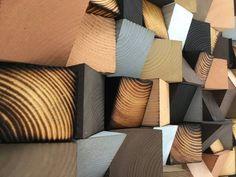 Wood Wall Art Wood Sound Diffusor Reclaimed Wood Art