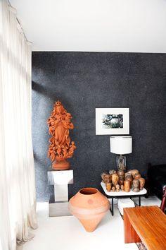 Cris Rosenbaum - fashion designer and Marcelo Rosenbaum - designer at home in São Paulo - via The selby
