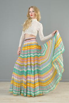 Ethereal 1970s cotton gauze maxi skirt. The epitome of bohemian beauty!