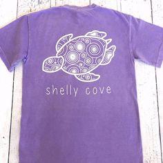 Amethyst Swirl Short Sleeve Tee - Shelly Cove - 1