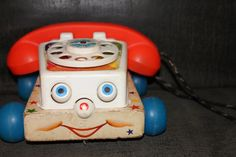 Fisher Price Vintage Pull Toy 1970s Chatterphone by mschildhouse, $4.99
