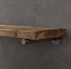 RH's Distressed Pine Shelf:Nature and nurture contributed to the textured beauty of our wall shelves, which are handcrafted from substantial planks of pine.