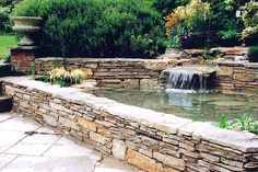 We like the walling on this pond.