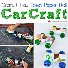 Toilet Paper Roll Car Craft A Little Pinch of Perfect square copy