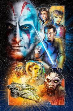 Star Wars Rebels by Jon Pinto Star Wars Holonet, Star Wars Fan Art, Star Wars Rebels, Images Star Wars, Star Wars Pictures, Sw Rebels, Tribal Warrior, Star Wars Drawings, Star Wars Wallpaper