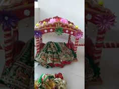 Wedding tray, Palkhi, fancy dry fruits tray and all type of fancy chhab decoration. Wedding Crafts, Diy Wedding Decorations, Wedding Ideas, Bridal Gift Wrapping Ideas, Handmade Rakhi Designs, Indian Wedding Gifts, Diwali Craft, Flower Pot Crafts, Marriage Decoration