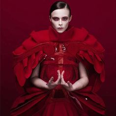 Fashion photography with a red obsession