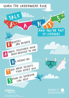 NSPCC - PANTS underwear rule guide for CHILDREN
