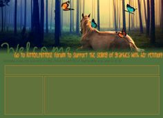 Horse in Forest Graphics Support Layout for Howrse by AceoftheSky ...