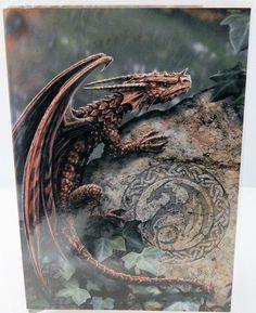 Dragon Greeting Card Anne Stokes Spiny Woodland Hopper Dragon Fantasy Magic Card