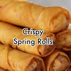 Fried Spring Rolls (VIDEO) - Simply Home Cooked Homemade Chicken Alfredo, Easy Chicken Pot Pie, Chicken Scampi Recipe, Cream Cheese Fruit Dip, Tempura Roll, Shrimp Tempura, Peach Pie Filling, Best Blueberry Muffins, Banana Oatmeal Cookies