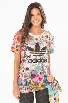 t-shirt ampla confete adidas