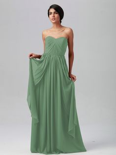 Pin to Win a Wedding Gown or 5 Bridesmaid Dresses! Simply pin your favorite dresses on www.forherandforhim.com to join the contest! | Multi-wear Chiffon Dress $209.99