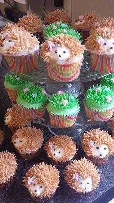 Hérisson Cupcakes par TreatsbuyTerri sur Etsy