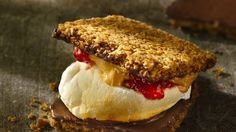 Good idea: Add PBJ to your s'more. No campfire? No worries. Try it in the microwave.