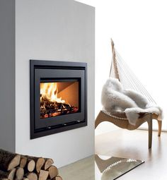 Wood fireplace insert / 1-sided UNIQ 32 Westfire