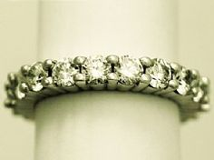 Gorgeous platinum & diamond full eternity ring