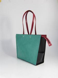 Basket Zip - Turquoise black bordeaux #hestervaneeghen #bags
