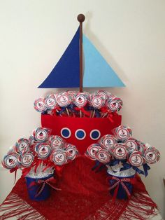 Nautical Baby Shower lollipops.