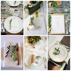 Romantische Olivenzweige, rustikale Holztische, goldverzierte Teller...Heiraten auf Italienisch bringt Freude auf.
