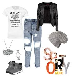 """""""tomboy"""" by latoya-lorraine on Polyvore featuring Boohoo, Marc by Marc Jacobs and Edge Only"""