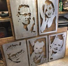 Plasma cutting a new Corten steel panel. Laser Cutter Ideas, Laser Cutter Projects, Metal Projects, Metal Tree Wall Art, Metal Art, Wood Art, Laser Art, Laser Cut Wood, Wood Crafts
