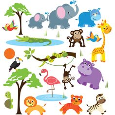Safari Adventure Jungle Peel & Stick Kids Room/ Nursery Wall Decal for Boys & Girls - Overstock™ Shopping - The Best Prices on Cherry creek inc Wall Decor