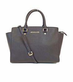 Michael Kors Selma Black Saffiano Leather Convertible Satchel #MichaelKors #Satchel