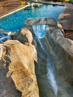 Love this pool slide!!!