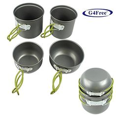 G4Free 4pcs Outdoor Camping pan Hiking Cookware Backpacking Cooking Picnic Bowl Pot s and Pans Set(Green) G4Free http://www.amazon.com/dp/B00OH5PH6G/ref=cm_sw_r_pi_dp_Ktgkvb0W7A67W