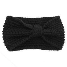 Crochet Bow Knot Knitted Turban Head Wrap