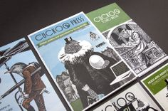 A selection of print designs for Cuckoo Young Writers.