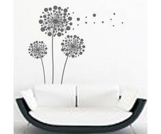 Öntapadó design pöttyös gyermekláncfű falmatrica - szürke színben  nappaliba 9ca81fbc60