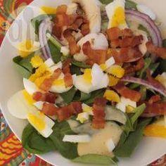 Ensalada de espinacas con tocino @ allrecipes.com.mx