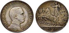 NumisBids: Nomisma Spa Auction 50, Lot 454 : Vittorio Emanuele III (1900-1946) Lira 1908 Prova – P.P. 256 AG...