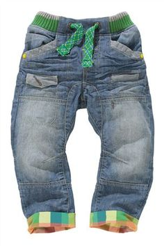 Buy Check Trim Rib Waist Jeans (3mths-6yrs) from the Next UK online shop