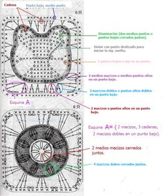 Hello Kitty Granny Square - free amigurumi crochet chart