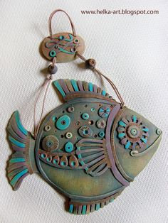 Ceramic fish – Art – Art is my life. Pottery Animals, Ceramic Animals, Clay Animals, Clay Projects, Clay Crafts, Ceramic Clay, Ceramic Pottery, Beginner Pottery, Pottery Ideas For Beginners