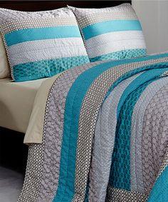 Loving this Meridian Quilt Set on #zulily! #zulilyfinds