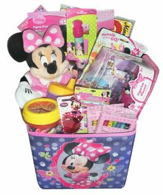 Easter basket candy bouquet for girl candy bouquets and more ideas jumbo minnie mouse ultimate gift basket perfect for birthdays get well easter negle Choice Image