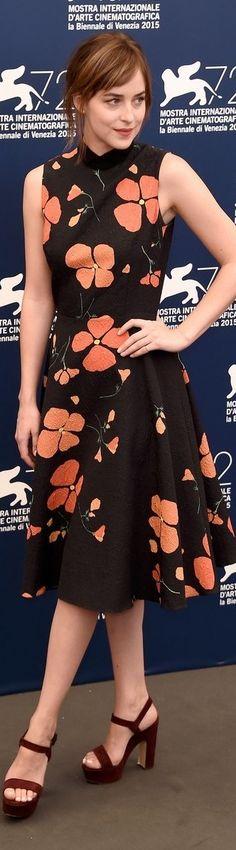 Dakota Johnson In Rodarte – 'A Bigger Splash' Venice Film Festival Photocall