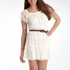 My Michelle Dress - jcpenney Lace Dress, White Dress, Dresses For Tweens, Junior Dresses, White Lace, Cute Outfits, Short Sleeve Dresses, My Style, Holiday Gifts