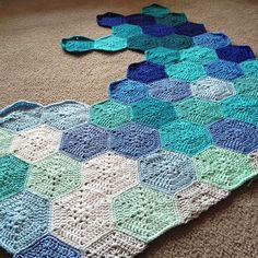 Aqua Blue Geometric Lace // Progress shot - pattern info @ babylovebrand.net #etsy #ravelry #crochet #aqua