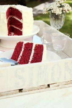 Red Velvet Cake - Torta de Terciopelo Rojo