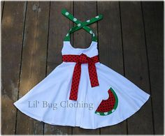 Summer Watermelon White Knit  Comfy Knit Fruit by LilBugsClothing, $39.99
